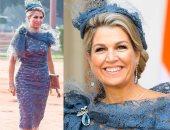 ملكة هولندا تظهر بفستان أنيق من الدانتيل.. هل ترينه مناسبًا للنهار؟