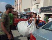 صور.. حملة لإزالة الإشغالات من محيط المستشفيات فى مرسى مطروح