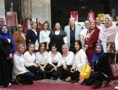 افتتاح المعرض الخيرى الطلابي للعام الدراسي الجديد بجامعة المنصورة