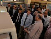 وفد التقييم فى مسابقة أفضل الجامعات المصرية يتفقد جامعة المنصورة