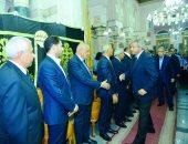 صور.. وزراء ومسئولون يشاركون فى عزاء وزير الاتصالات الأسبق طارق كامل