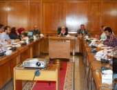 صور.. الرى تعقد اجتماعا مع أعضاء فريق أسبوع القاهرة للمياه لتوثيق الفعاليات