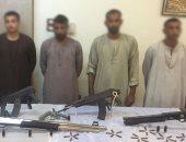 القبض على 5 أشخاص بحوزتهم أسلحة نارية بالمنيا