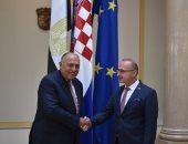 وزير الخارجية يبحث مع نظيره الكرواتى تعزيز التعاون الاقتصادى خاصة فى مجالات الغاز الطبيعى