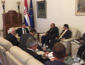 وزير الخارجية يبحث مع رئيس وزراء كرواتبا تطوير العلاقات الاقتصادية ..صور