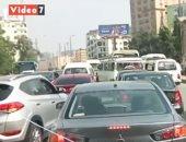 توقف حركة المرور بنفق الهرم ومطلع كوبرى الجيزة بسبب زيادة الأحمال