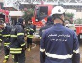 الدفاع المدنى الفلسطينى يشارك فى إخماد حرائق لبنان .. فيديو وصور