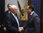 صور.. رئيس الوزراء من واشنطن: موقف مصر ثابت فى رفض أى انتهاك للأراضى السورية