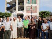 محافـظ المنوفية يشهد طابور الصباح بمدرسة شبراباص الإعدادية بشبين الكوم