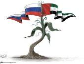 كاريكاتير الصحف الإماراتية.. تعاون مشترك بين روسيا و الإمارات