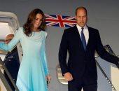صور..الأمير وليام وزوجته كيت يصلان باكستان فى زيارة تستمر 5 أيام
