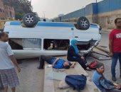 إصابة 6 أشخاص فى حادث انقلاب سيارة ميكروباص بالشرقية