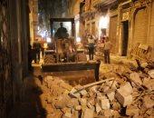 انهيار عقار قديم وسط الإسكندرية دون إصابات