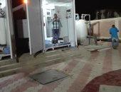 صور.. تشغيل تجريبى لمحطة مياه أبو عارف بالسويس