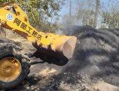 تنفيذ إزالة عدد 5 مكامير فحم بقرية الرياض فى دمياط