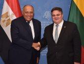 شكرى يبحث مع وزير خارجية ليتوانيا تعزيز العلاقات الثنائية فى كافة المجالات
