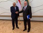 شكرى يبحث مع مستشار حكومة ليتوانيا تعزيز العلاقات الاقتصادية بين البلدين