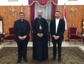 بطريرك الأقباط الكاثوليك يستقبل رئيس كلية انتشار الإيمان بروما