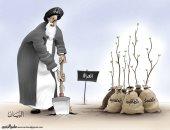 كاريكاتير الصحف الإماراتية.. إيران تزرع الفتن و الفساد بالعراق