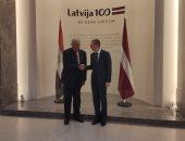 شكرى يبحث مع وزير خارجية لاتفيا تطورات مفاوضات سد النهضة