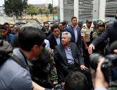 رئيس الإكوادور يزور المناطق المتضررة فى كيتو على كرسيه المتحرك