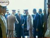 شاهد ..لحظة وصول الرئيس السيسى مقر حفل تخرج الدفعة الأولى طب القوات المسلحة