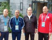 رئيس بعثة المنتخب العسكرى يحذر اللاعبين من رباعية عمان