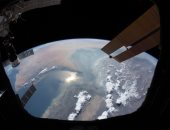 رائد الفضاء الإماراتى هزاع المنصورى ينشر صورة للخليج العربى من الفضاء