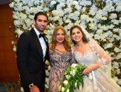 ليلى علوى وعمرو الليثى فى حفل زفاف شقيقة ملك قورة