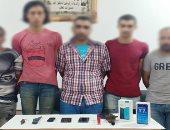 عصابة الخمسة وراء سرقة المواطنين بالإكراه فى أبو النمرس