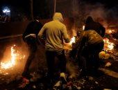 صور.. مواجهات عنيفة بين الشرطة والمتظاهرين فى إقليم كتالونيا بإسبانيا