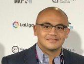 أحمد حسام عوض متحدثا بمؤتمر الرياضة الدولى بلندن 2020