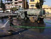 صور.. تنظيف الساحات فى لبنان انتظارا لتوافد المتظاهرين