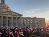 وقفة احتجاجية لأبناء الجالية اللبنانية أمام برلمان كندا