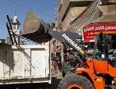 أمن الجيزة يشن حملة لإعادة الانضباط بشارع عثمان محرم بالطالبية