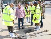 رئيس مياه الشرب بالإسكندرية يتفقد الاستعدادات المكثفة للنوة القادمة ..صور