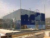 شاهد.. الملعب الزجاجي بالأهرامات يستعد لاستضافة بطولة العالم للإسكواش