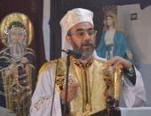 الأنبا دانيال لطفى يترأس صلوات القداس بكنيسة الكاثوليك بفاقوس