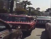 فيديو.. زحام مرورى بشارع البطل أحمد عبد العزيز بسبب زيادة الأحمال