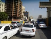 فيديو وصور.. كثافات مرورية بشارع جامعة الدول بسبب أعمال إنشاء المترو