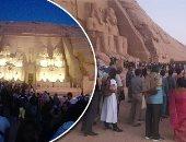 آثار أسوان: 64 كاميرا مراقبة بمعبد أبوسمبل خلال تعامد الشمس على وجه رمسيس
