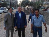 نائب محافظ القاهرة يتفقد أعمال تطوير ميدان الألف مسكن