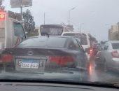 قارئ يشارك صور تكدس السيارات فى مدينة نصر بسبب الأمطار