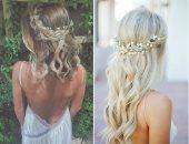 تسريحات شعر للعروس المحبة للبساطة.. اختارى اللى يناسب فستانك.. صور