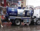 التنمية المحلية: الدفع بـ80 سيارة لشفط مياه الأمطار بالقاهرة
