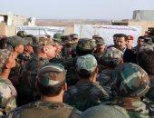 بشار الأسد يتفقد الخطوط الأمامية ببلدة الهبيط فى ريف إدلب