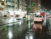 صور.. سقوط أمطار رعدية على مطروح والساحل الشمالى