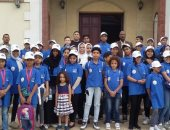 الأطفال المشاركون فى أسبوع القاهرة الثانى للمياه يزورون متحف الرى بالقناطر