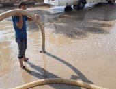 صور.. شفط مياه الأمطار بشوارع سرس الليان والشهداء والباجور ومركز السادات ومنوف