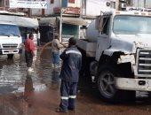 صور.. طوارئ بالبحيرة لمواجهة آثار سقوط الأمطار الغزيرة